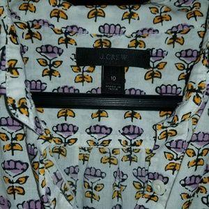 JCrew popover shirt size 10